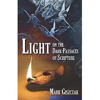 Ljus över den mörka passager av skriften