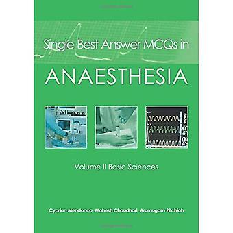 SINGLE BEST MCQS ANASTHESIA V2