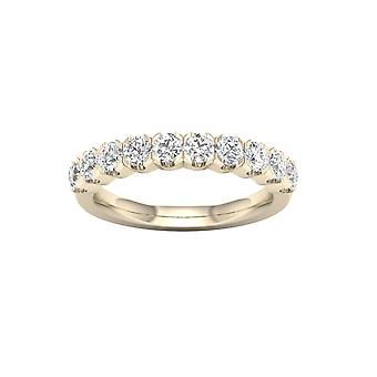 IGI Certified DeCouer 1Ct TDW Diamond 14k Yellow Gold Wedding Band (H-I, I2)