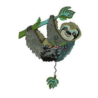 Allen Designs Slow Poke Sloth Pendulum Wall Clock