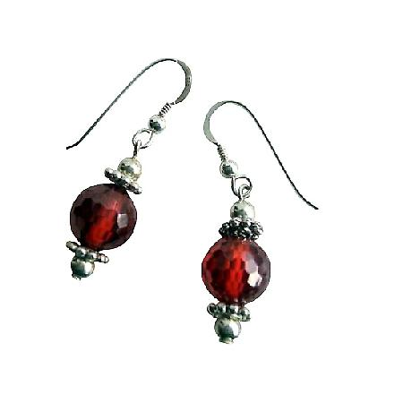 Amber Bead 10mm Earrings Ethnic Sterling Silver 92.5 Earrings