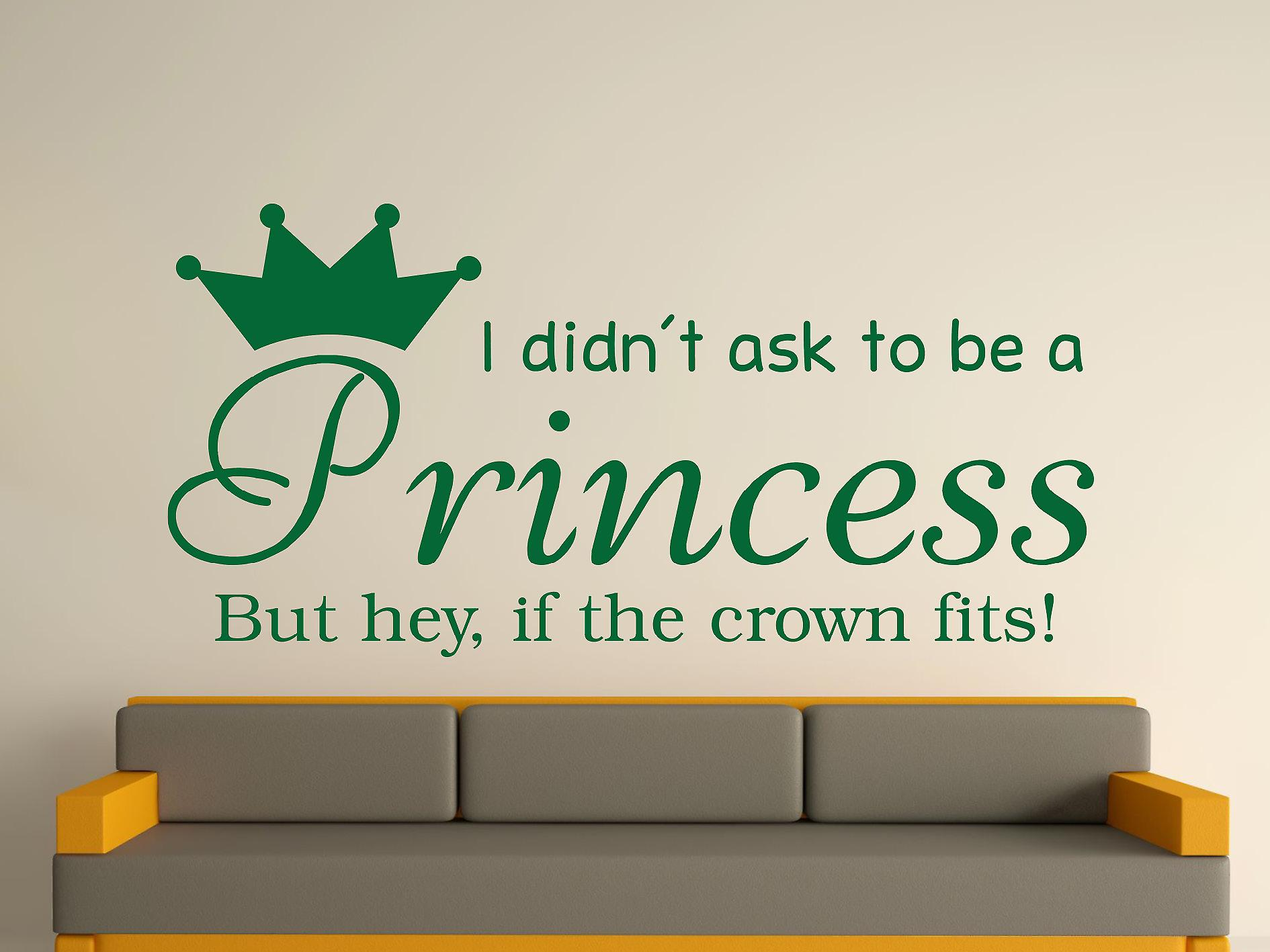 Ser una princesa v2 Wall Sticker Art - verde carreras