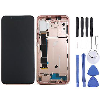 Für Xiaomi Mi 8 Display Full LCD Einheit Touch mit Rahmen Ersatzteil Reparatur Pink Neu