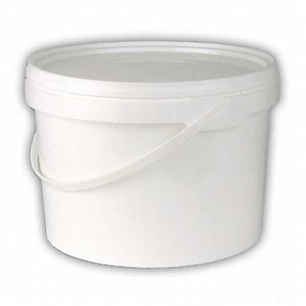 White bucket 2.5 litre with lid