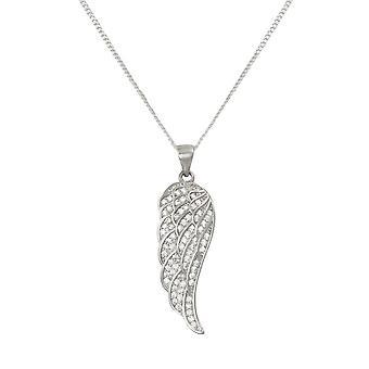 Ewige Sammlung Angelica Zirkonia Sterling Silber Engel Flügel Anhänger