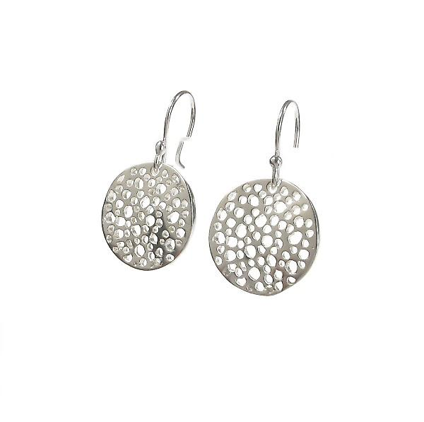 Cavendish French Sterling Silver Mesh Earrings