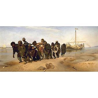 Barge Haulers on the Volga,Ilya Repin,80x37cm