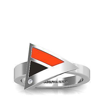 Philadelphia Flyers Philadelphia Flyers indgraveret diamant geometrisk ring i orange og sort