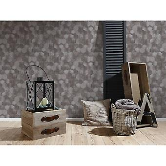 A.S. Creation As Creation Metallic Honeycomb Contemporary Geometric Shimmer Wallpaper 363302