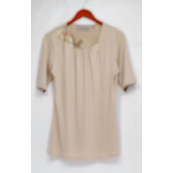 George Simonton Top Knit With Embellished Neck Beige A229337