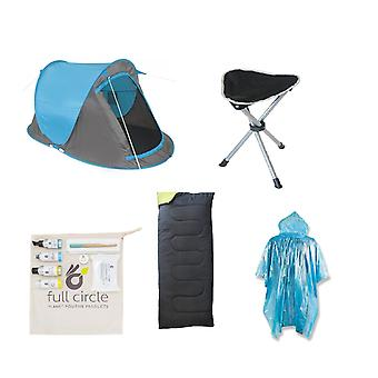 Essential Festival Pack (Fast Pitch Tent + Sleeping Bag + Camping Stool +