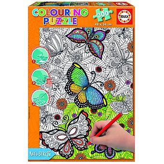 Educa Puzzleteile 300 färbbar Mandala alle gut 34 x 48 cm