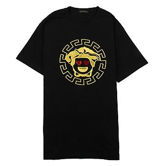 Versace Medusa corazón ojos camiseta negro