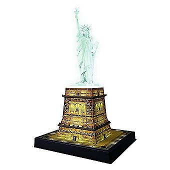 Ravensburger standbeeld van Liberty Night editie - 108pc 3D puzzel