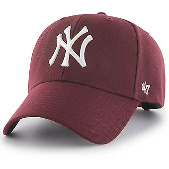 47 Brand Snapback Cap - MVP New York Yankees dark maroon