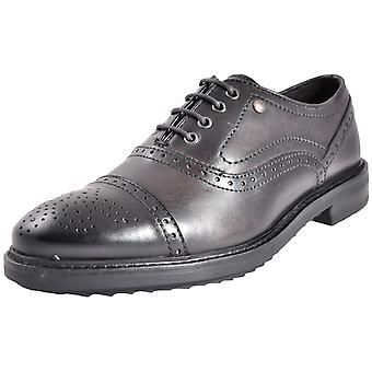 Base London Hardy Leather Dark Grey / Black