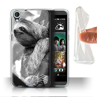 STUFF4 Gel/TPU sak/Cover for HTC Desire 820q dobbelt/Sloth/Mono Zoo dyr