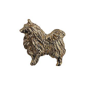 9ct Gold 22x29mm Dog Brooch