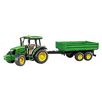 Bruder Tractor John Deere With Shovel And Trailer
