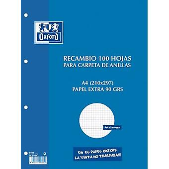 Oxford 4 T Retractil Parts 100H.azul A4 90Gr.