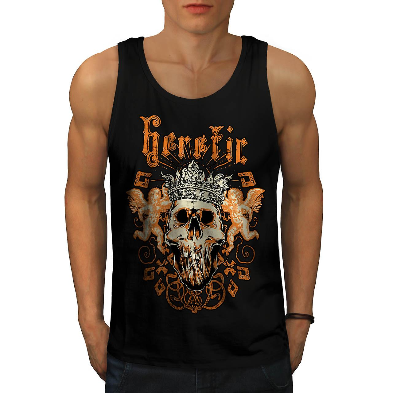Ketter Monster King Skull Rage mannen Tank Top zwart | Wellcoda