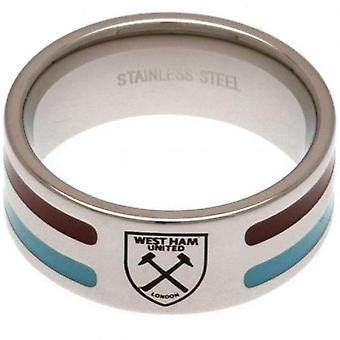 West Ham United Colour Stripe Ring Small
