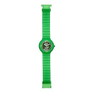 Hip Hop clock watch silicone Ghost green HWU0103