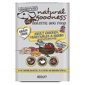 Goodwyns voksen korn frie kylling & sød kartoffel 400g (pakke med 10)
