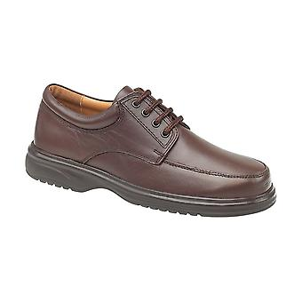 Amblers Mens Bradbury Featherlight Shoes Leather PU Lace Up Fastening Footwear