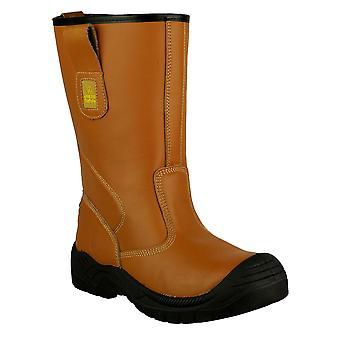 Gibt Sicherheit FS142 Rigger Unisex Sicherheitsschuhe Leder Slip-On Cap Toe Schuhe