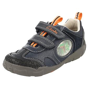 Boys Clarks Casual Leather Shoes Stompo Jaw