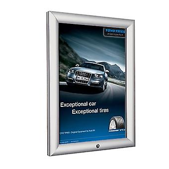 A1 Lockable Silver Snap Frame