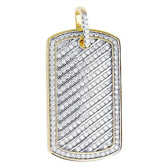 Premium Bling - 925 sterling silver dog tag pendant-gold