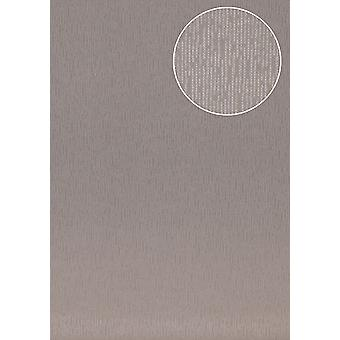 High-quality tone on-tone wallpaper Atlas COL-445-6 non-woven wallpaper smooth solid colors shimmering grey grey beige Platinum Grey 5.33 m2