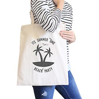 It's Summer Time Beach Party Heavy Cotton Washable Canvas Eco Bag