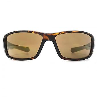 FCUK Wraparound Sunglasses In Shiny Tortoiseshell