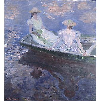 Claude Monet - On the Boat Poster Print Giclee
