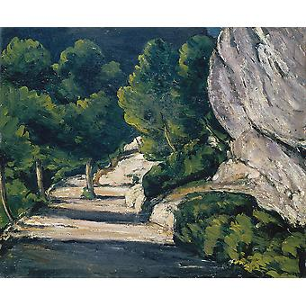 Paul Cezanne - Road with Trees in Rocky Mountains Poster Print Giclee