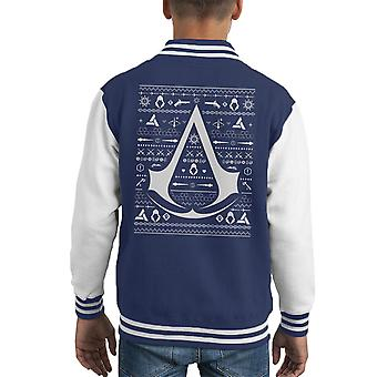 Christmas Strik Assassins Creed Kid's Varsity jakke