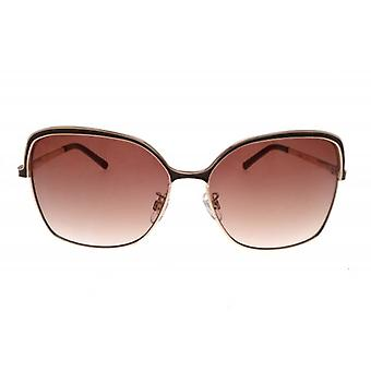 W.A.T Gold Framed Rounded Women's Sunglasses