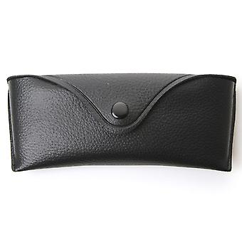 Retro Vinyl Protective Hard Sunglass Eyewear Case w/ Snap Closure