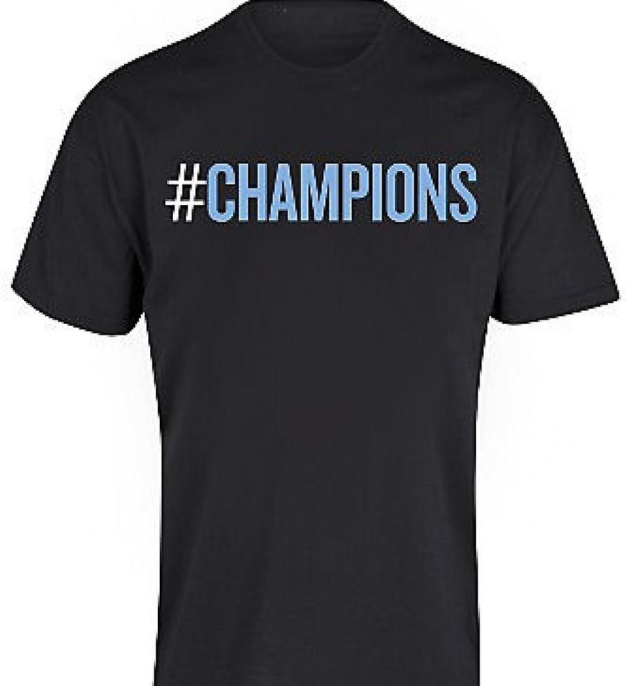 2012 Manchester City Champions T-Shirt (Black)