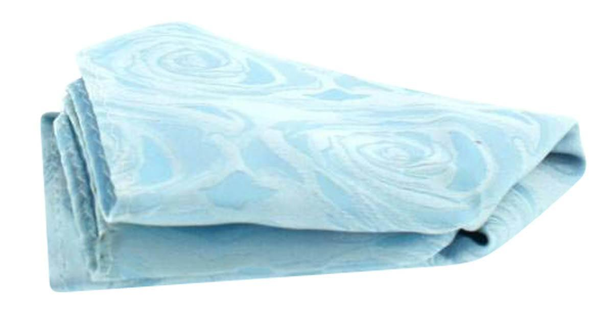 David Van Hagen Wedding Rose Silk Handkerchief - Sky Blue