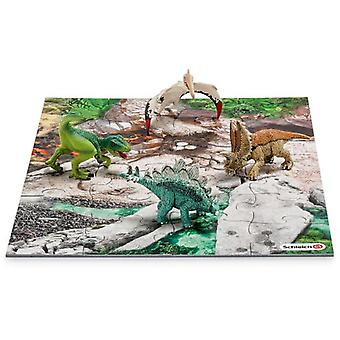 Schleich Mini Dinosaurs With Discovery Puzzle