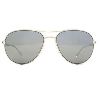 Paul Smith Surrey Sunglasses In Brushed Silver Black Satin Mirror