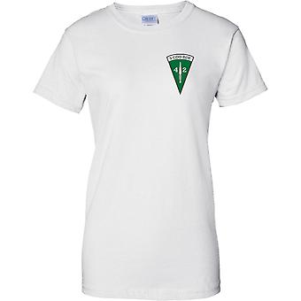 Licensed MOD -  Royal Marines 40 Commando - 3 Cdo Brigade Insignia - Ladies Chest Design T-Shirt