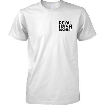 Licensed MOD -  British Army Royal Irish Regiment - Text - Kids Chest Design T-Shirt