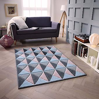 Portland 6994 Z Rectangle gris bleu rose tapis tapis modernes