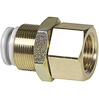 SMC Kq2E10-03A Pneumatic Threaded-To-Tube Adapter Push 10 Mm Rc 3/8 Female Bsp