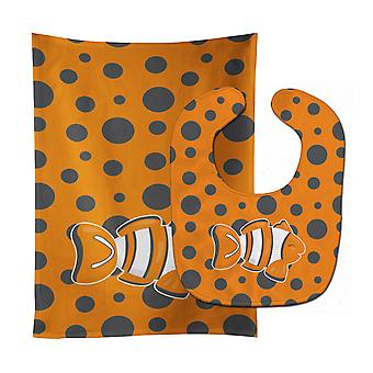 Carolines Treasures  BB8951STBU Fish Clown Fish Baby Bib & Burp Cloth